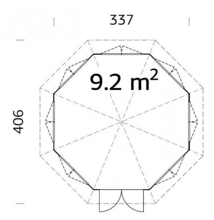 Aiapaviljon üleni klaasidega 9,2m2 TASUTA VEDU