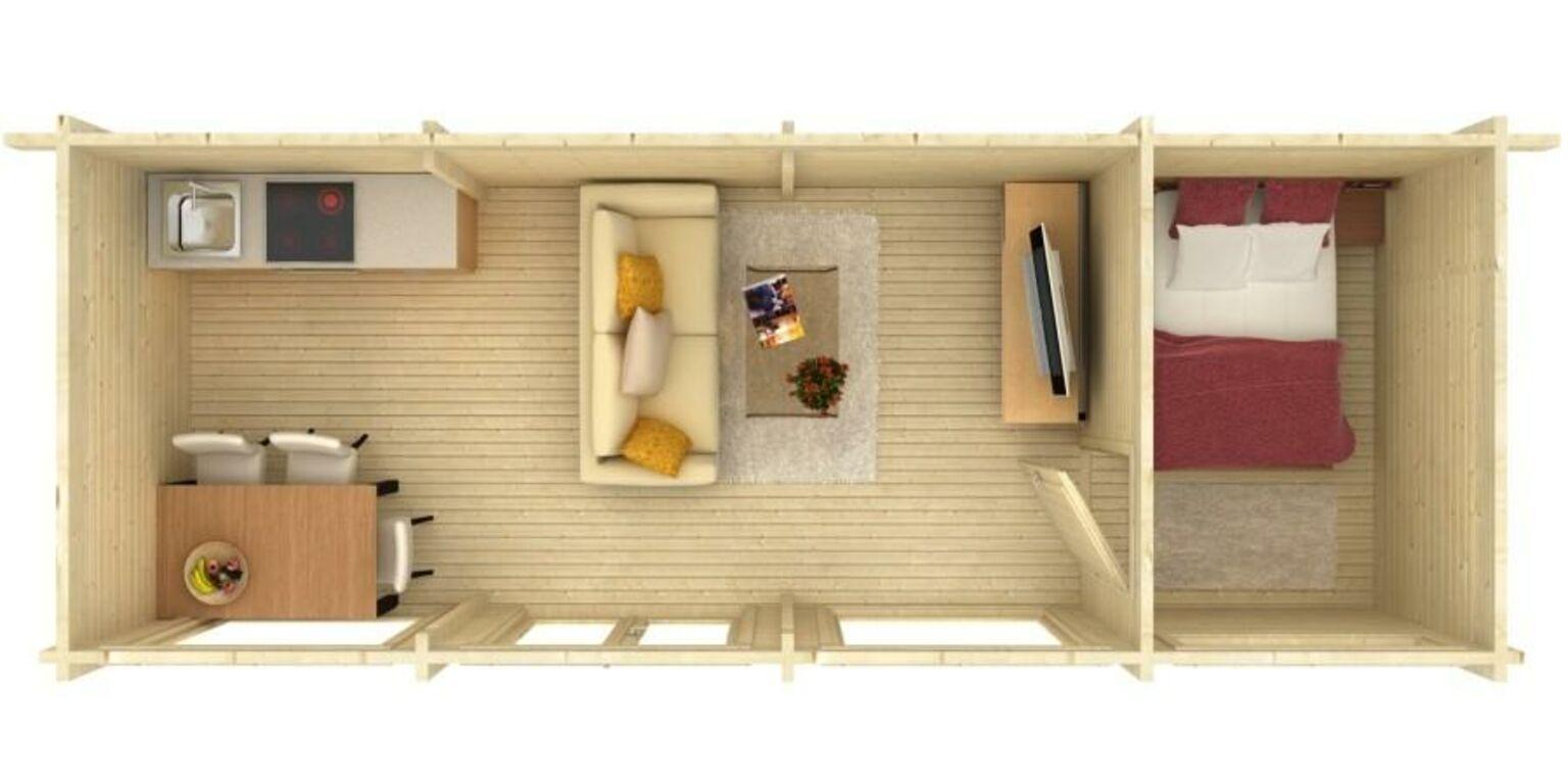 Aia-teemaja Heidy 22,8 m2 2-toaline