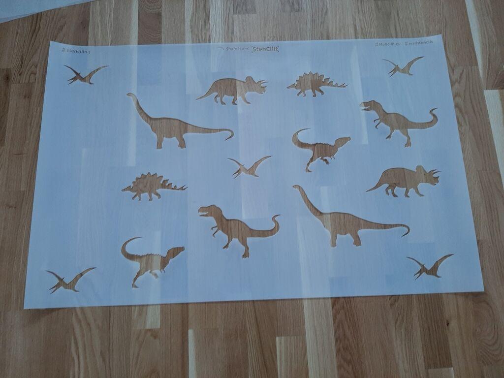StenCilit-i  šabloon Dinosaurused