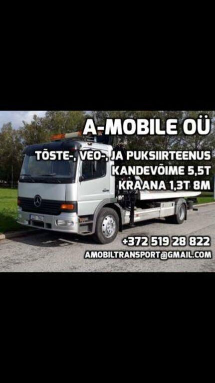 Treiler Puksiir Puksiirteenus 24/7 Tartu