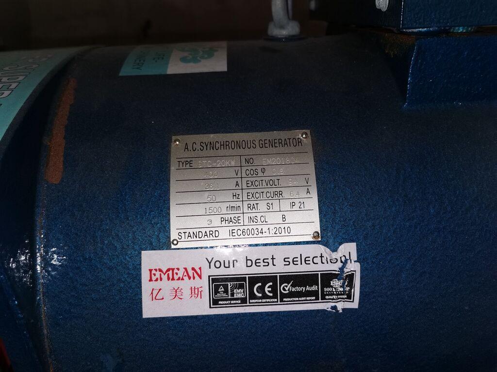 Sünkroongeneraator 20kw 3F 36A