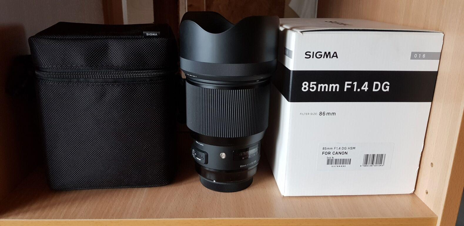 Objektiiv Sigma 85mm Canonile