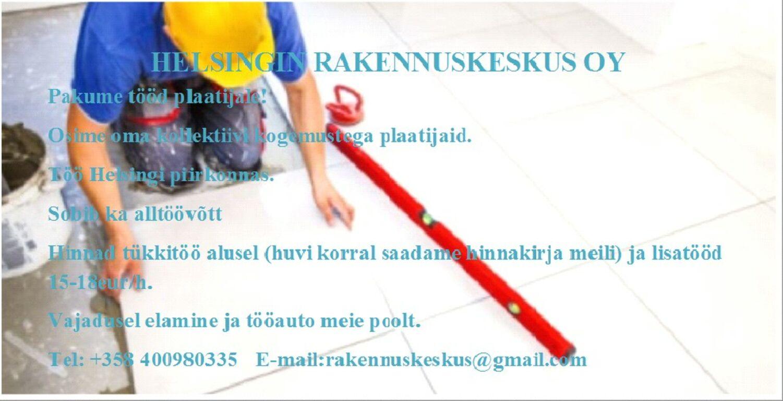 Otsime Soome(Helsingisse) plaatijaid