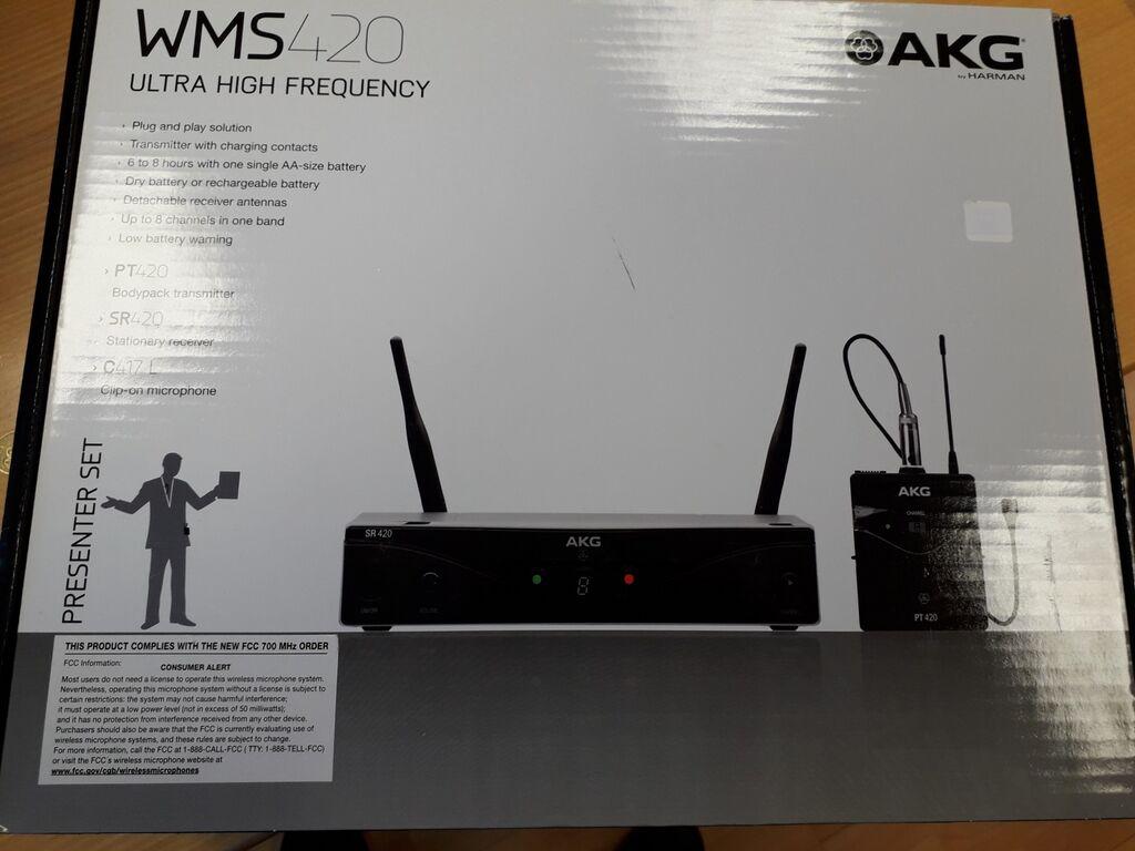 UUS Juhtmevaba mikrofon AKG - WMS 420 Presenter Se