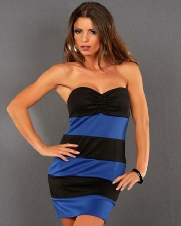 Ilus sinine/must kleit