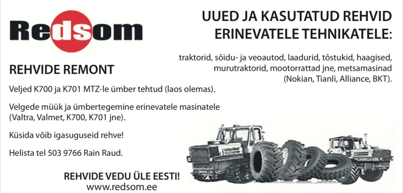 K701 rehvid 28,1xR26 Altai 12-kihti