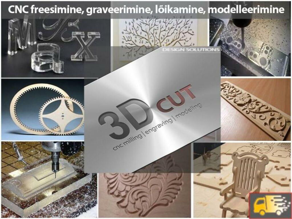2D-3D CNC freesimine, graveerimine, modelleerimine