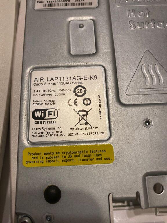 Cisco Aironet 1130 series wifi ruuter