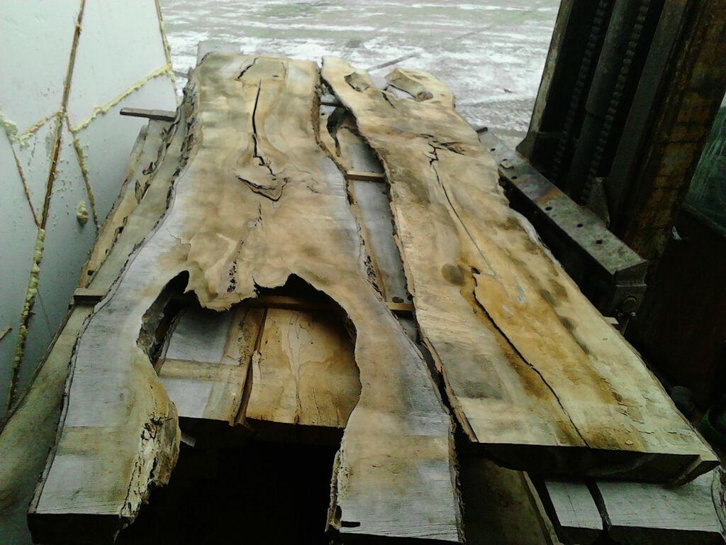 Vahtra plank, haava must laud