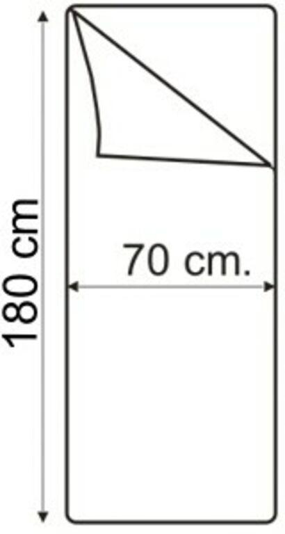 Magamiskott 950N SININE, ÕHUKE JA SUVINE