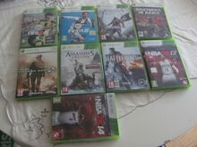 9 Xbox 360 mängu(FIFA 19, FIFA 17, NBA 2k17, jt)