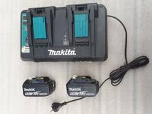 Makita DC18RD laadija (2 pesaga) + 2tk BL1850B