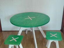 Laste laud ja 2 tooli