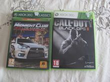 Xbox 360 mängud Midnight club & COD Black ops 2