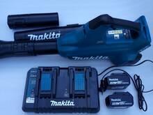 Makita DUB362Z 2x18V lehepuhur + DC18RD+ 2tk BL185