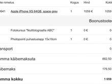 Apple Iphone XS (64GB) Space Grey