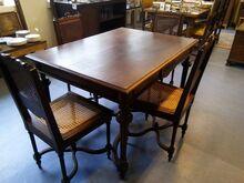Antiikne söögilaud + 4 tooli