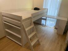 Poolkõrge voodi Bergen 80x200cm kirjutuslauaga