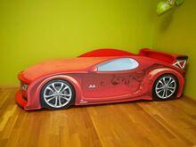 Laste Auto-Voodi Mebelev Uno Alfa S4 Punane