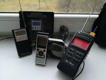 Diktofon, raadio, kõlar, mel-meter