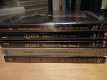 5 DVD Guns N' Roses, Queen, Take That