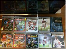 10 PS3 orig. mängu (GT5, GT6, Lego mängud, jt)