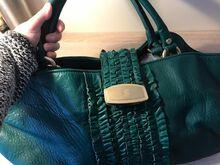 BILL BLASS LeatherBag, Modell MONOGRAM, Green Gold