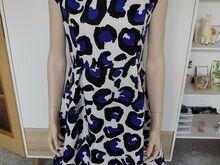 Uus sini-must-valge kleit M