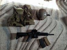 Airsoft relv + varustus