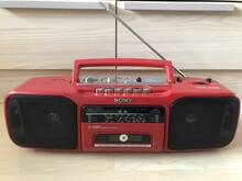 Sony punane retro raadio