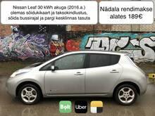 Elektriauto rent 1 nädalaks (Bolt, Uber, Yandex)