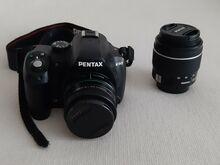 Peegelkaamera Pentax K-50 + objektiivid 18-55mm WR