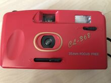Punane retro fotokas