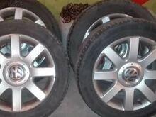 VW touran originaal veljed + Rehvid R16