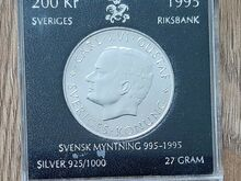 200 Rootsi kroonine hõbemünt