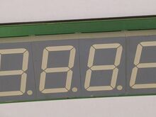 LED 45 mm 7 segment 4 digit display BKF CAN IO2.01