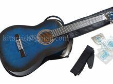 Kitarr sinine, kott, rihm, häälestaja, uus