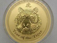 Austraalia Lunar kuld 1oz Tiiger 2010