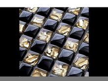 Klaasmosaiik Gold-Black Crystal Mix