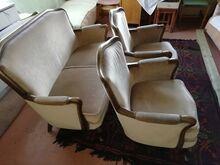 Antiiksed diivan+kaks tooli