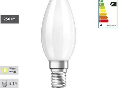 E14 sokliga OSRAM LED pirnid 10tk. Uued