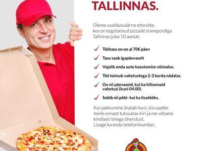 Pizzakulleri töö Tallinnas