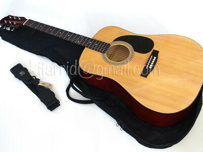 Akustiline kitarr, Natural, kotiga, uus