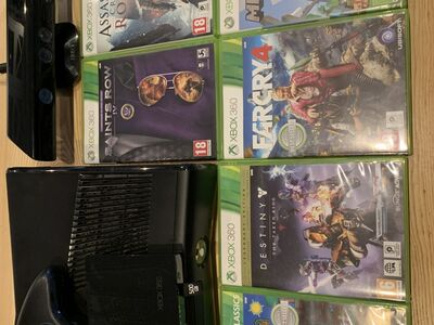 Xbox 360 500 gb + Kinect + 6 mängu