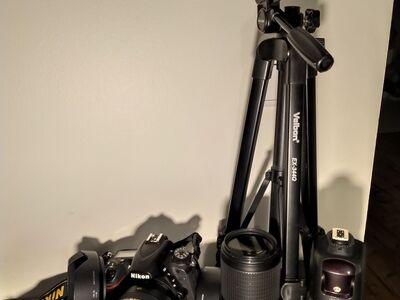 Nikon D750 + kaks objektiivi ja varustus