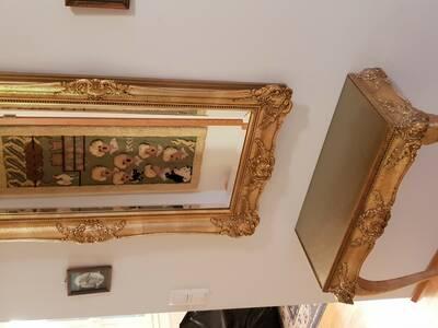 Rokokoo peegel koos lauaga
