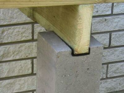 Terrassi tugipostid betoonist 15x15x80 cm