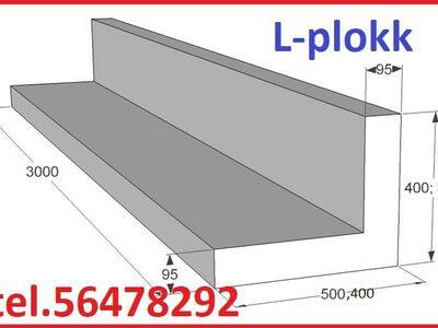 EPS L-plokk 40x50, 30x50, 30x40 pikkus 3m