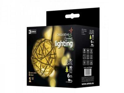 Jõulukaunistus kuldsed pallid 16 LEDi