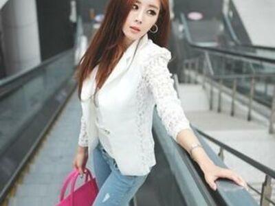 Ilus valge pitsiga jakk